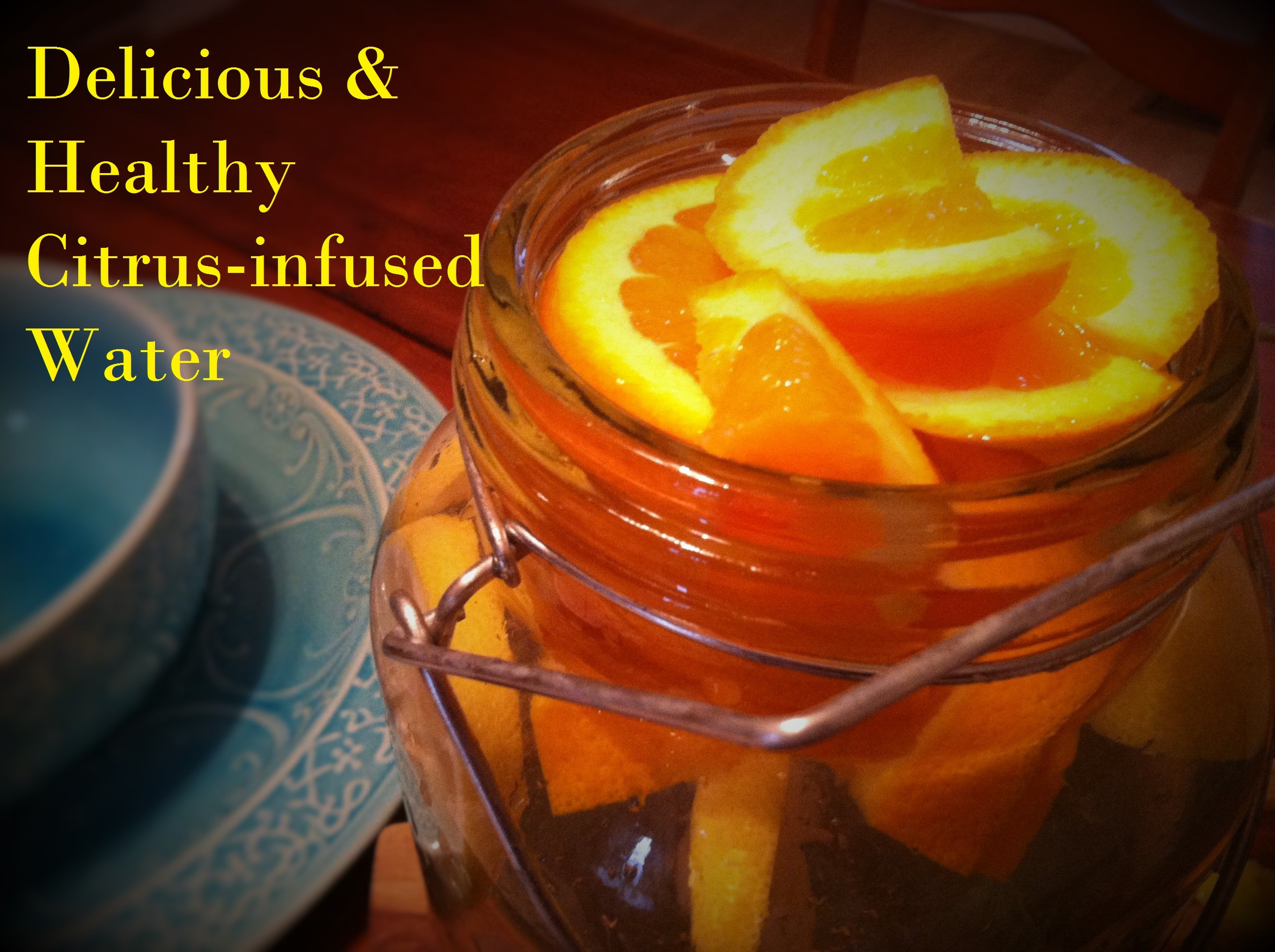 Delicious and healthy citrus-infused water. Other flavors posted, too!