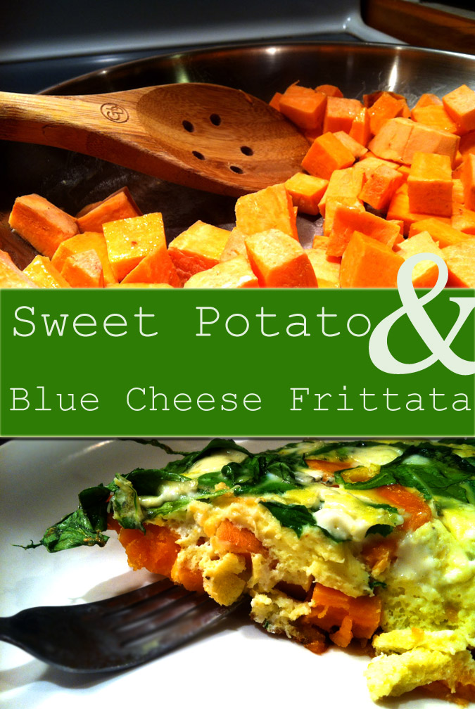 Sweet Potato and Blue Cheese Frittata