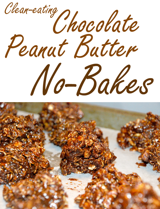 Clean eating chocolate peanut butter no-bakes