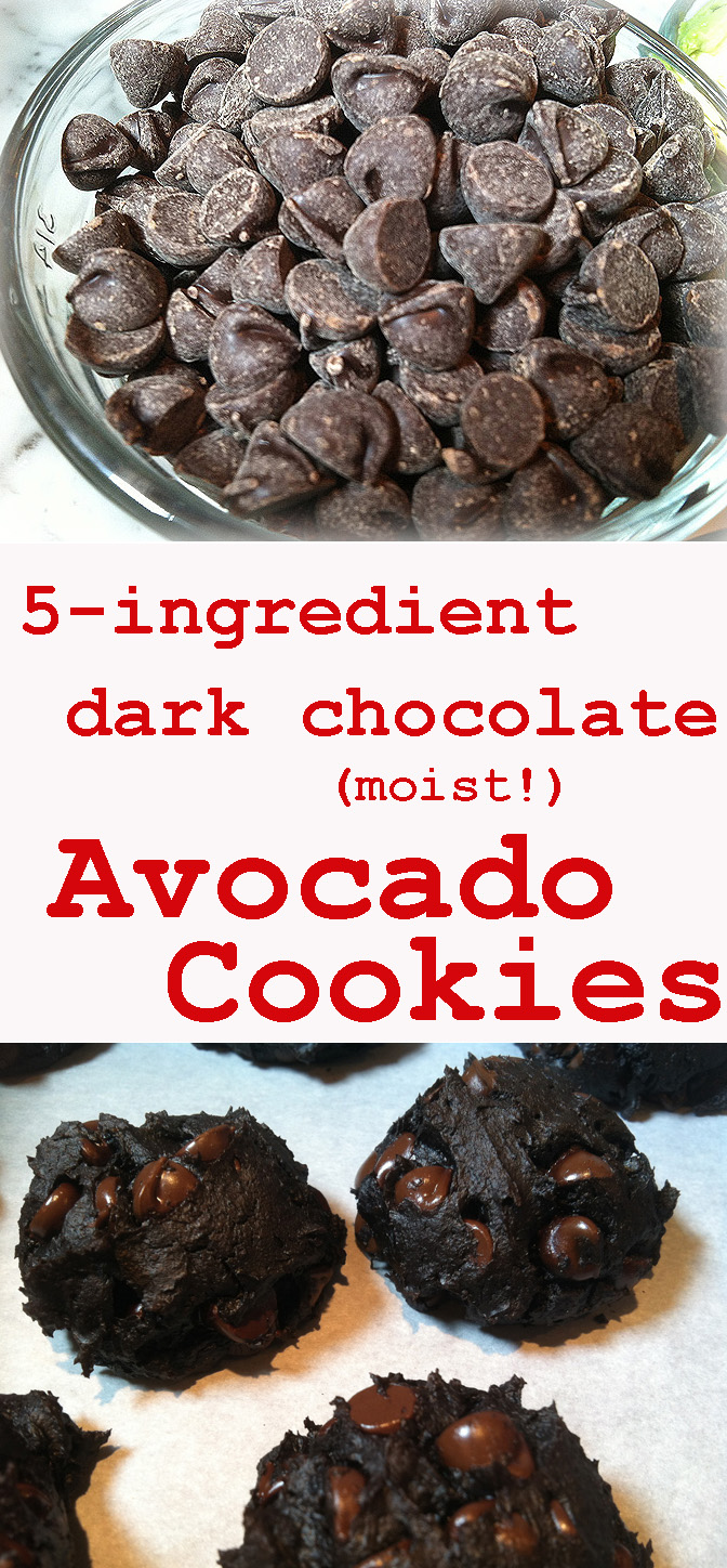 5-ingredient dark chocolate avocado cookies