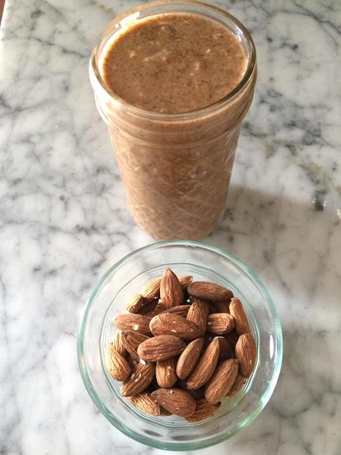Homemade honey cinnamon almond butter