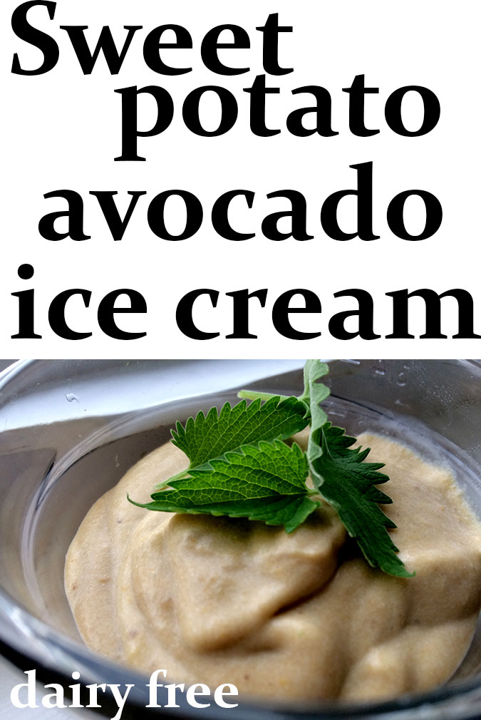 Sweet potato avocado ice cream