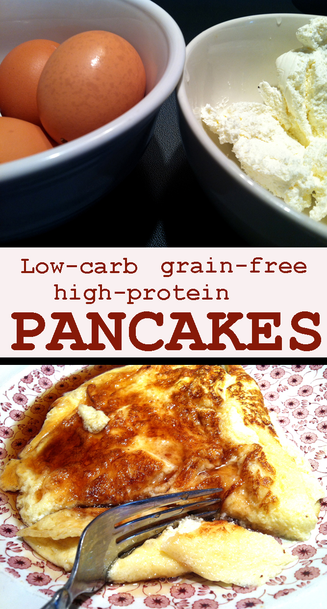 Grain-free high-protein cream cheese pancakes