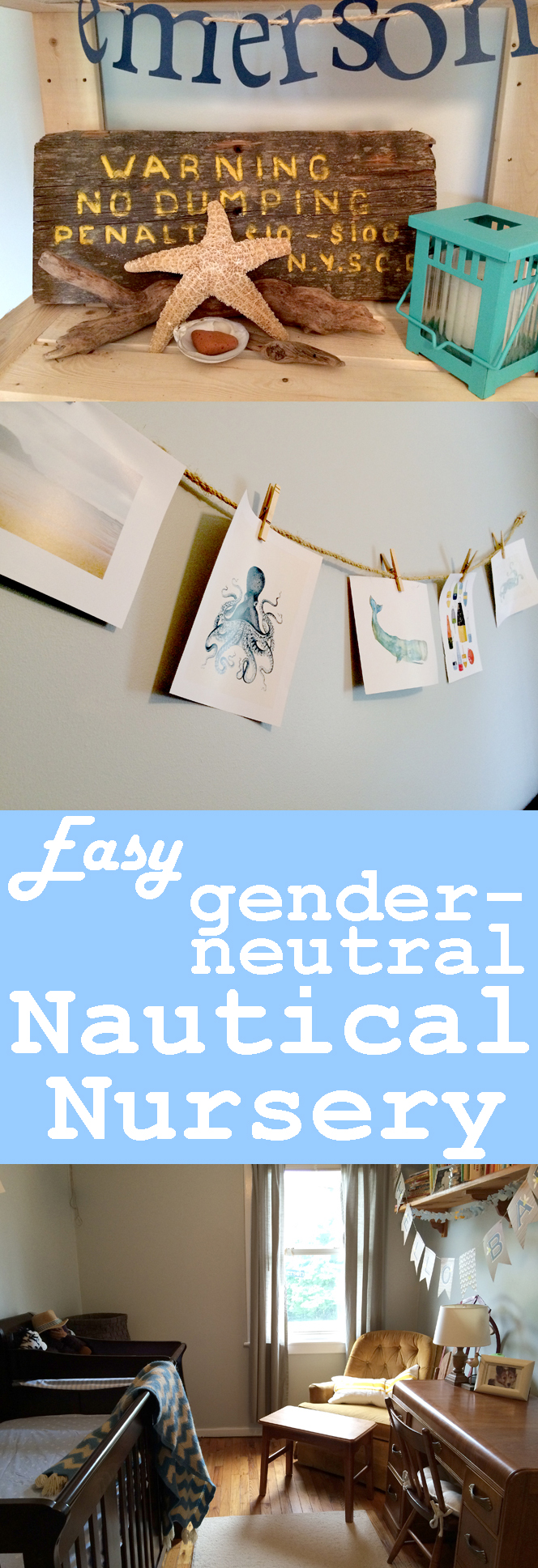Easy gender neutral nautical nursery theme